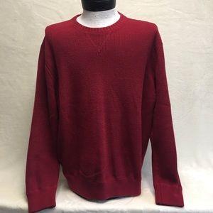 Eddie Bauer wine men's sweater